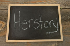 Herstory Stock Photo