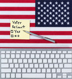 Hertellingsbesluit voor Verenigde Staten van Amerikaanse kiezers Royalty-vrije Stock Afbeeldingen
