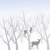 Herten in het bos Royalty-vrije Stock Foto's