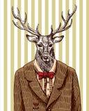 Herten in jasje royalty-vrije illustratie