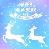 Herten nieuw jaar Royalty-vrije Stock Fotografie