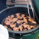 Hertevlees die bij de grill worden gebraden Royalty-vrije Stock Afbeelding