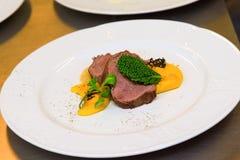 hertevlees Gastronomische maaltijd stock foto