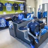 Hertha BSC Fanshop in Berlin Stock Images