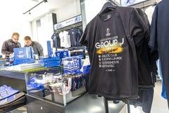 Hertha BSC Fanshop in Berlin Royalty Free Stock Photo