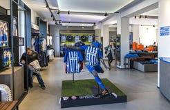 Hertha BSC Fanshop i Berlin Royaltyfri Fotografi