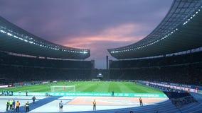 Hertha BSCA de Berlin Olympiastadion Foto de archivo libre de regalías
