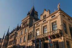 Hertiglig slott i Luxembourg Arkivfoton