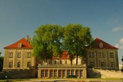 Hertiglig slott i Zagan. Arkivbilder