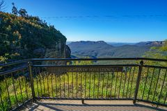 Hertog en hertogin van het vooruitzicht van York, blauw bergen nationaal park, Australië royalty-vrije stock foto