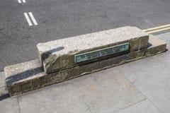 Hertog van Wellington Horse-Block in Londen Stock Afbeelding