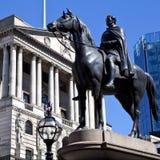 Hertog van Wellington Statue en de Bank van Engeland royalty-vrije stock afbeeldingen