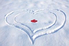 Herts de la nieve Imagen de archivo libre de regalías