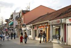 Hertsegovachka Street in Podgorica.   Royalty Free Stock Photo