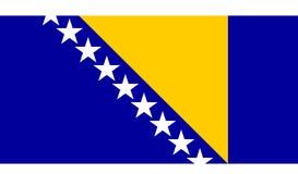 hertzigovina флага Боснии Стоковое Фото