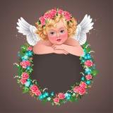 Herub and wreath Stock Photo