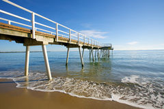 Hervey Bay Australia. Pier on the beach at Hervey Bay Royalty Free Stock Photography