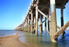 Hervey Bay Australia Jetty. A long pier at Hervey Bay Australia Stock Photography