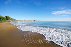 Hervey Bay beach. An Australian beach landscape in Hervey Bay Queensland Australia Royalty Free Stock Photo