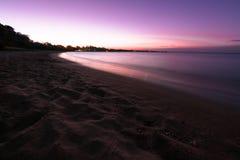 Hervey Bay Beach Sunset Foto de archivo libre de regalías