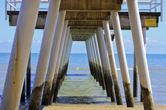 Hervey Bay Jetty 2855 Fotografie Stock