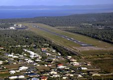 Hervey Bay-luchthavenantenne royalty-vrije stock afbeeldingen