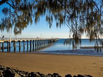 Hervey Bay Urangan Jetty Queensland Australië Stock Foto