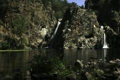 Hervidero waterfall dark exposure royalty free stock image