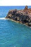 hervideros коричневеют утес в белой каменной воде и лете Стоковые Изображения RF