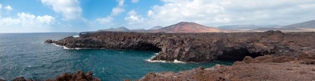 Hervideros del Los, Lanzarote, islas Canarias Fotografía de archivo libre de regalías