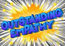 Hervorragende Empathie - Comic-Buch-Artwörter vektor abbildung
