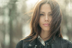 Hervorragendes junges Schönheitsgesicht - Nahaufnahme Lizenzfreies Stockfoto