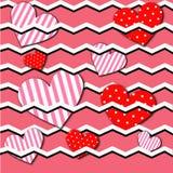 Herz-abstrakter Valentinsgrußhintergrund Lizenzfreie Stockfotos