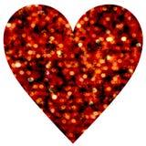 Herz Astract Bokeh lokalisiert auf Weiß Lizenzfreie Stockfotografie