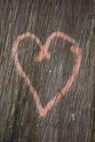 Herz auf Baum Lizenzfreie Stockfotos