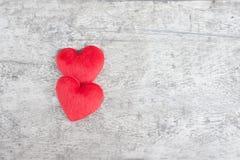 Herz auf dem Holz Stockbilder