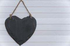 Herz auf der Planke Lizenzfreies Stockfoto