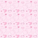 Herz auf einem rosa Hintergrund stock abbildung