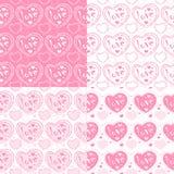 Herz auf einem rosa Hintergrund vektor abbildung