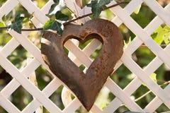 Herz auf Zaun Lizenzfreies Stockfoto