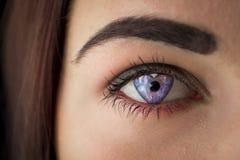 Herz-Augen-Galaxie-Liebe Lizenzfreie Stockfotos