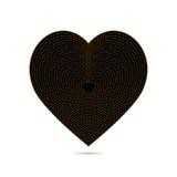 Herz aus Gold und Schwarzes Lizenzfreie Stockfotografie