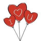 Herz-Ballone lizenzfreie abbildung