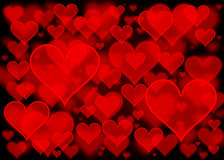 Herz bokeh Abstrakte Tapete der Liebe lizenzfreie abbildung