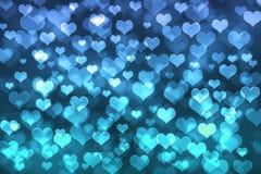 Herz bokeh Hintergrund Lizenzfreie Stockbilder