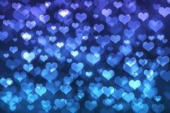 Herz bokeh Hintergrund Stockfotografie