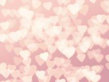 Herz bokeh Hintergrund Stockbilder