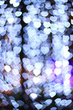 Herz bokeh Hintergrund Goldinnere auf Rot Stockbild