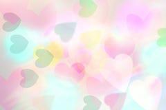 Herz bokeh Hintergrund, Liebes-Valentinstaghintergrund Lizenzfreie Stockbilder