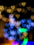 Herz bokeh Licht Stockfotos